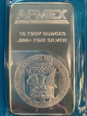 10 Oz. .999 Silver Bar - Apmex