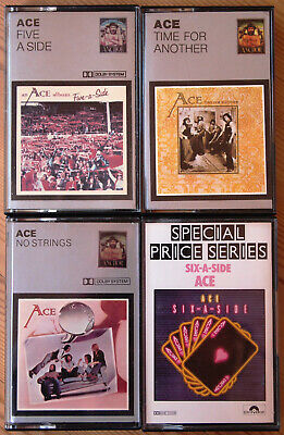 4x ACE CASSETTE TAPES UK EDITIONS, VERY GOOD CONDITION, PUB ROCK 1970s ANCHOR