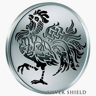 2017 Silver Shield Year Of The Rooster MicroMintage Proof 1 oz .999 Round Coin