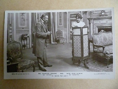 Theatre Actors RP Postcard- JEAN ALWYN & CHARLES TROODE in WHO'S THE LADY?