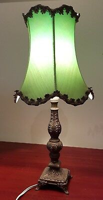 Decorative Vintage Mayfield (Australia) Brass Table Lamp And Shade