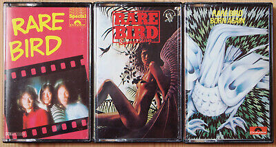 3x RARE BIRD UK CASSETTE TAPES - BORN AGAIN, SYMPATHY - PROG PSYCH ROCK EX COND!