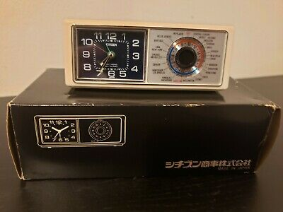 Vintage Citizen Electronic Mini Alarm Clock w/ Box