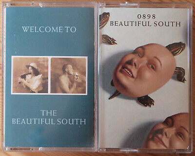 2x THE BEAUTIFUL SOUTH CASSETTE TAPES - 0898 /  WELCOME TO - EXCELLENT CONDITION