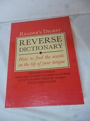 Readers Digest Reverse Dictionary 1996 Illustrated great condition