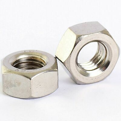 304 Stainless - Fine Thread Hex Full Nuts M6 M8 M10 M12 M14 M16 M18 M20 M22 M24