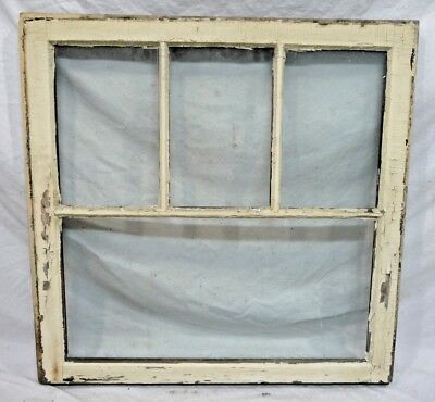 Antique Craftsman Style Window - C. 1910 Fir Orig. Glass Architectural Salvage