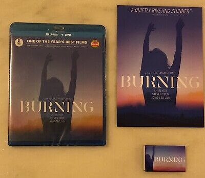 BURNING (Blu-ray + DVD, 2019) with RARE Matchbox and Promo Sheet; NEW AND SEALED