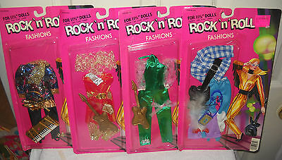 """#9361 NRFC Vintage Totsy 4 Rock N Roll 11 1/2"""" Fashion Doll Clothes Outfits"""