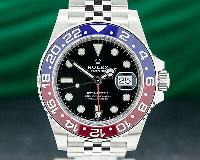 "Rolex 126710BLRO GMT Master II Ceramic ""Pepsi"" SS / Jubilee UNWORN BOX + PAPERS"
