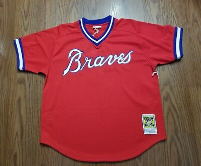 0bc2d3ea4fc Men s Mitchell   Ness red Dale Murphy Atlanta Braves Mesh BP jersey ...