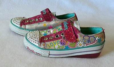Skechers Twinkle Toes girls youth Lights Up size 13.5 Shoes childs Y352