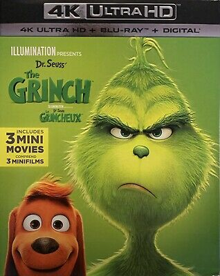 Dr. Seuss' The Grinch 4K ( 4K UHD / Blu-ray / Digital ) with Slipcover B