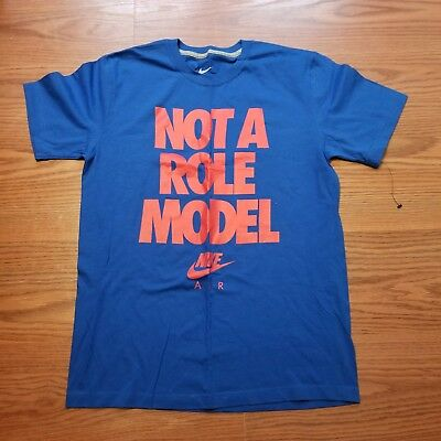 1d4094fed NWT Mens Nike Air Charles Barkley not a role model ss blue t shirt size  medium