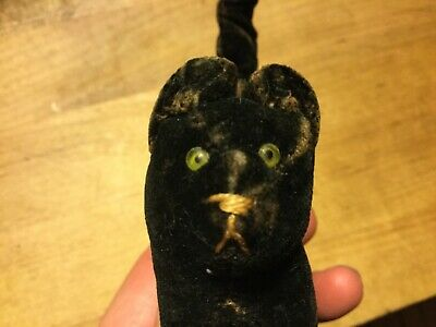 Antique Steiff? Halloween Miniature Black Velvet Scaredy Cat RARE HTF EARLY1900s