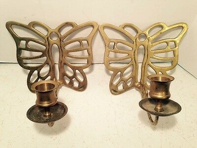 Brass Butterfly Sconce Candle Holder Wall Home Decor Lighting