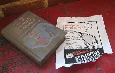 BEETLEJUICE HANDBOOK & FLYER RECENTLY DECEASED PROP 1:1 movie halloween 1980s