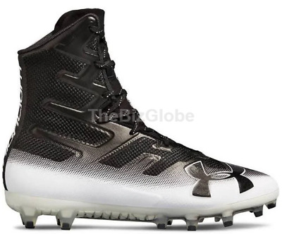 50aaa1f03 Under Armour 3000177-002 Men s Highlight MC Football Cleats Black White  Size 11