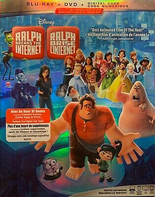 Ralph Breaks The Internet (Blu-ray / DVD / Digital) with Slipcover BRAND NEW!
