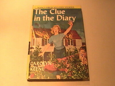 Nancy Drew  #7 The Clue in the Diary White End Paper Yellow Matte