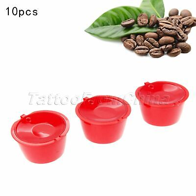 10Pcs Filter For Nescafe Dolce Gusto Reusable Coffee Capsules Pod Cup i Cafilas
