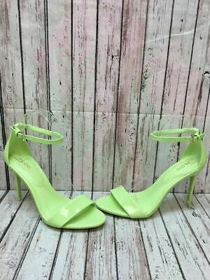 f3653e380 ALDO 'Cally' Lime Green Patent Leather Ankle Strap Sandal Heels Women's  Size 6.5