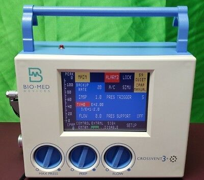 BIO-MED Devices Crossvent3+ Monitor (Biomed tested).