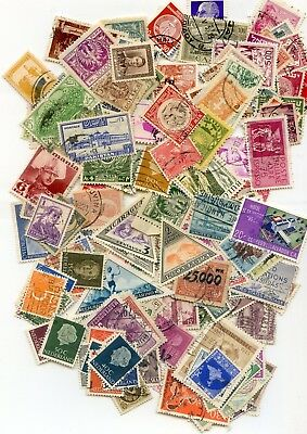 100+ DIFFERENT WORLD WIDE STAMPS from 90 YEAR OLD COLLECTION