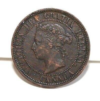 1886 Canada One Large Cent KM 7 Wonderful AU Details