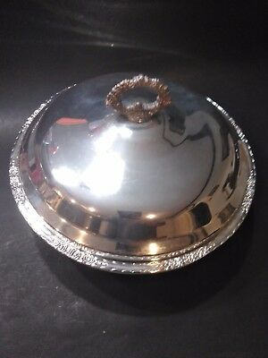 International Silver Co Silver Plate Serving Bowl  with Lid Camille