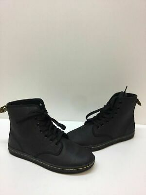 db5a908938a DR. MARTENS 'SHOREDITCH' Black Leather 7-Eye Lace Up Ankle Boots Women's  Size 7