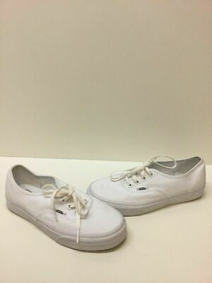 e7a825c4f4 VANS Lo Pro Classic All White Canvas Lace Up Skate Shoes Mens Size 6 Womens  7.5