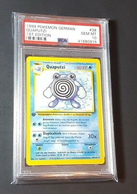 QUAPUTZI 1st Edition GERMAN Base Set Pokemon Card #38//102 MINT