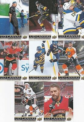 2018-19 Upper Deck Series 1 Ud Canvas Lot Of 8 Brand New