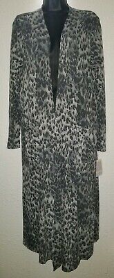 80df4cda2bae Lularoe Sarah snow Leopard Black/grey Animal Print Duster Cardigan Sweater  Med