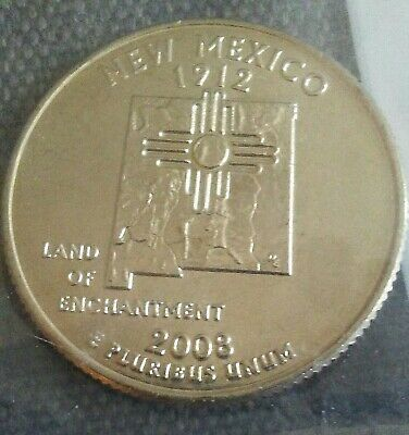 """2008 D New Mexico State Quarter New U.S. Mint """"Brilliant Uncirculated"""" Coin"""