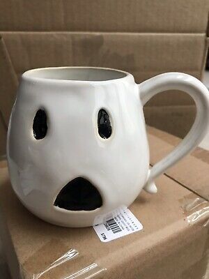 159317fc30e POTTERY BARN FIGURAL GHOST 1 COFFEE CUP Mug Halloween SOLD OUT