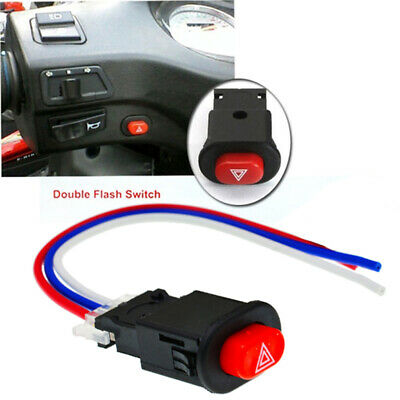 2x Motorcycle hazard light switch warning flasher emergency signal w/3 wireBLMO Auto Parts and Vehicles