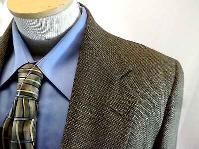 40 R AUSTIN REED Men's Blazer Jacket, BROWN GRAY WOOL Suit Coat 40 R MADE IN USA
