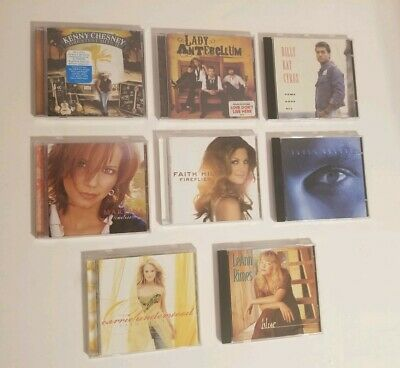 Lot of 8 Country CDs Rimes Brooks Underwood Hill McBride Chesney Cyrus Antebelum