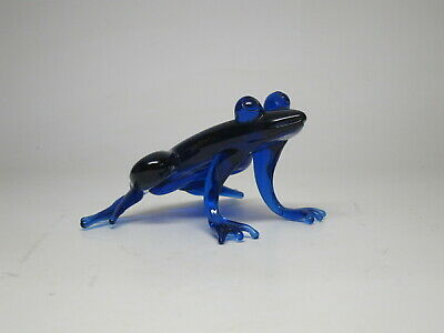 Vtg Large Hand crafted Art Studio Glass Cobalt Blue Frog Blown Venetian?