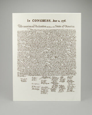 Handcrafted Declaration of Independence Replica, Historical Memorabilia, (1770)