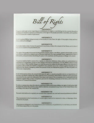 Handcrafted Bill of Rights Replica, Historical Memorabilia, Home Decor (1777)