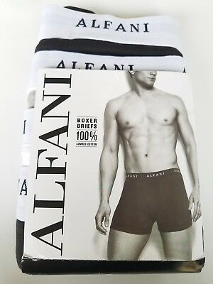 ba3d5d3cbcb8 Alfani Mens Boxer Briefs 4-Pack 100% Combed Cotton Black White Gray Smal (