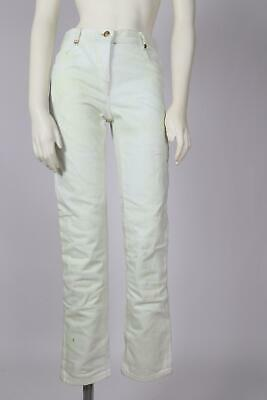 207a7c38 BALMAIN Distressed Stained Cotton Skinny Jeans Size 36