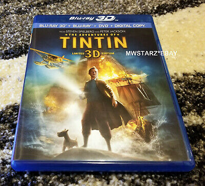 3D The Adventures Of Tintin (3D Blu-ray Disc & Case/Artwork Only)