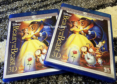 3D Disney Beauty And The Beast (3D Blu-ray Disc & Case/Artwork Only)