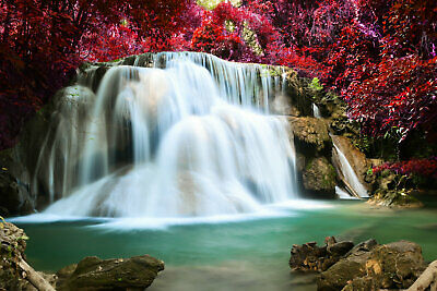 Waterfall Landscape Wall Art Picture Print Painting Canvas Living Room Decor W09