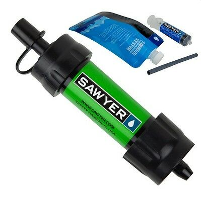(Express Shipping) 2 x SAWYER SP101 Green Mini Water Filter (FOC Extra Pouch)