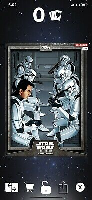 Topps Digital Star Wars Card Trader Illustrated CTI Stormtroopers Gray
